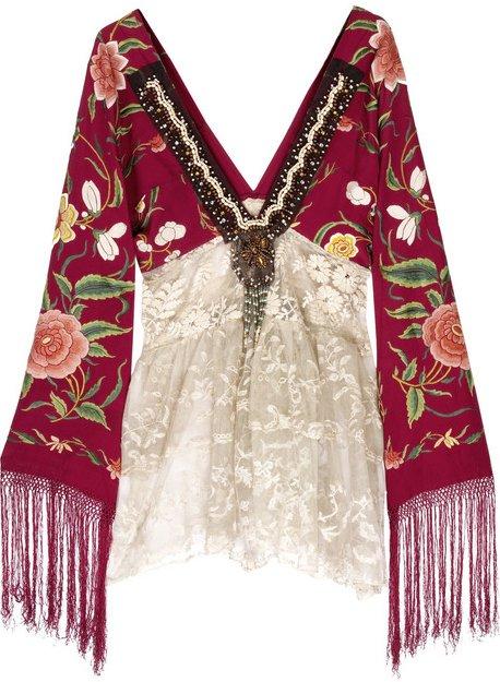 Piano shawl tunic from Dressmaker