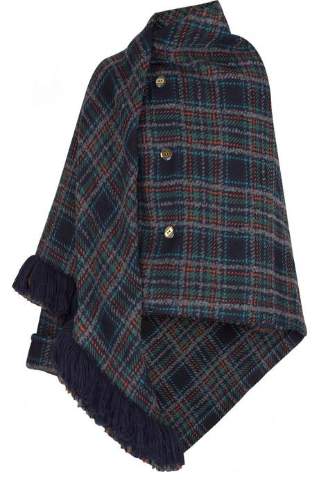 marc by marc jacobs parker tartan wrap coat