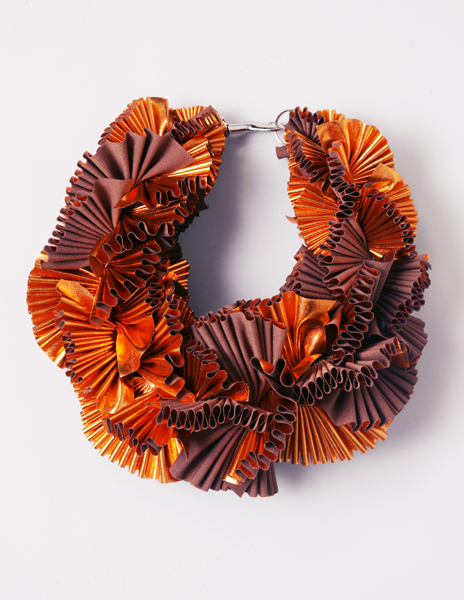 copper ruffle neck piece