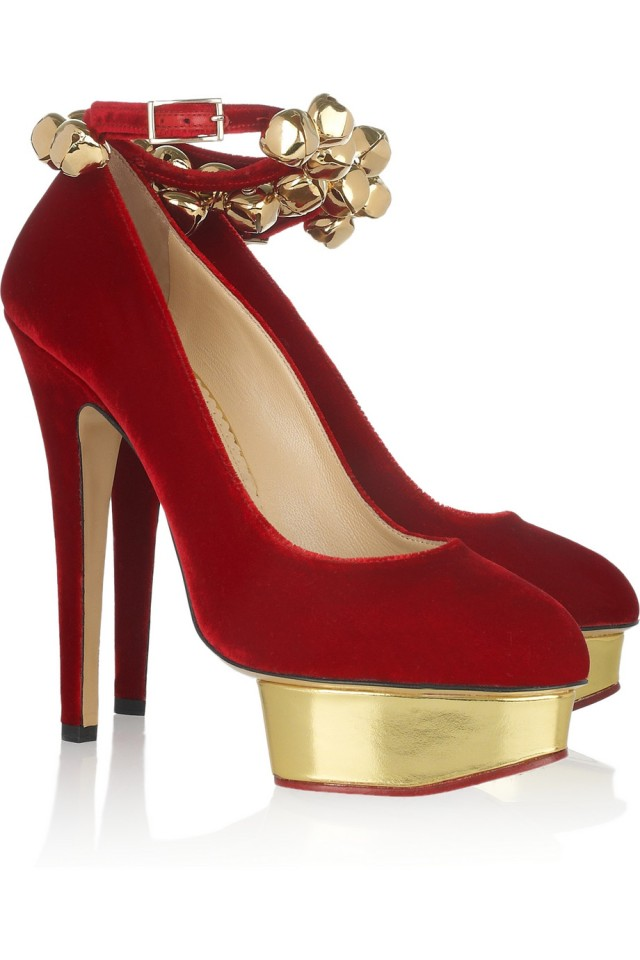 charlotte olympia christmas bell pumps
